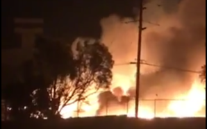 Impactante incendio de basurero municipal de Tecate