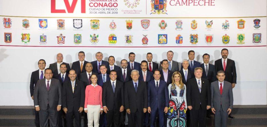 Asiste Gobernador Francisco Vega a reunión de la CONAGO, con la presencia del Presidente de México Andrés Manuel López Obrador