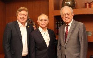 Se reúne Gobernador Francisco Vega con el Jefe de la Oficina de la Presidencia de la República y el Secretario de Comunicaciones y Transportes del Gobierno de México