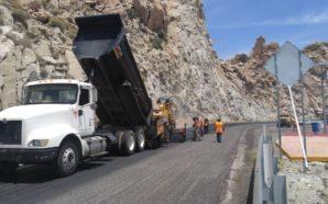 Recomienda Gobierno del Estado precaución por obras de mantenimiento mayor en la autopista La Rumorosa