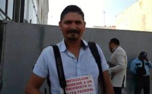 Presenta periodista agredido denuncia contra guardias de Galerías Tijuana