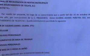 Zulema Adams priva de sus libertades a funcionarios del Ayuntamiento