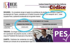 Filtran documento de cancelación de candidatura de Leyzaola