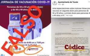 Gobierno de Tecate genera confusión sobre vacunación contra COVID19, son…