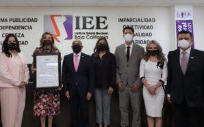 ENTREGA IEEBC CONSTANCIA A MARINA DEL PILAR COMO GOBERNADORA ELECTA…