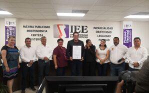 Recibe Darío Benítez constancia de mayoría como presidente electo de…