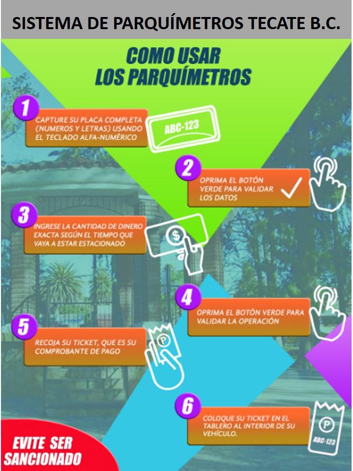Así es cómo funcionarán los Parquímetros en Tecate