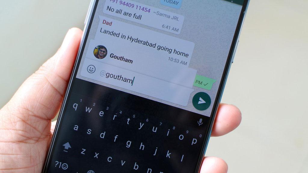 """Ahora Whatsapp te permite """"etiquetar"""" en conversaciones grupales"""
