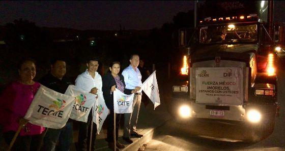 Con destino a Ayala, Morelos salió camión con víveres de los Centros de Acopio del Ayuntamiento