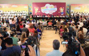 Reconoce Gobernador Francisco Vega alto sentido de responsabilidad de niñas y niños funcionarios por un día