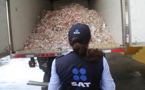 Destruye SAT un millón de cigarros de procedencia ilícita