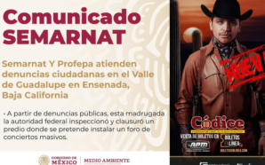 Ecocidio en Valle de Guadalupe por concierto de Nodal